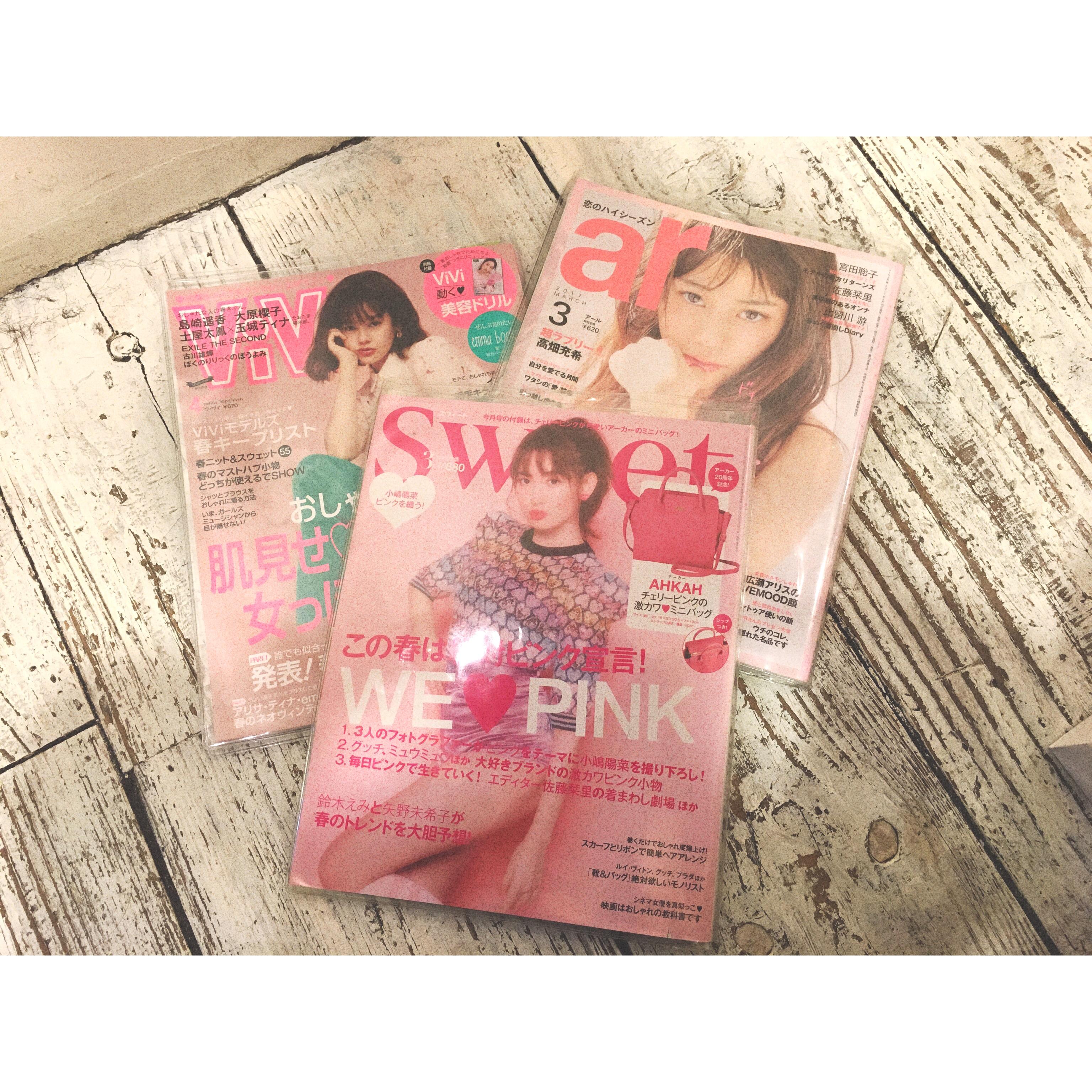 ピンク系カラーが増えてます!