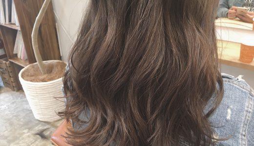 【お客様カラー】髪を柔らかく見せるシアーベージュ